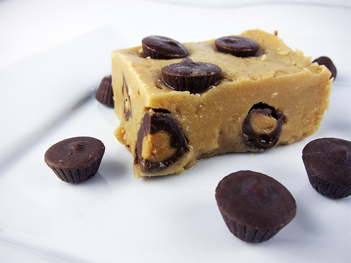 Peanut Butter Fudge | www.EatLaughPurr.com #Fudge #PeanutButter #ChristmasCandy