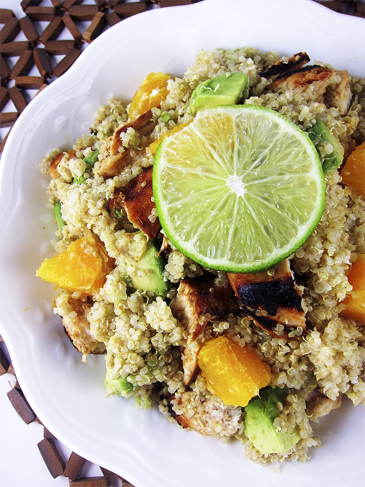 Citrus Chicken with Quinoa | www.EatLaughPurr.com