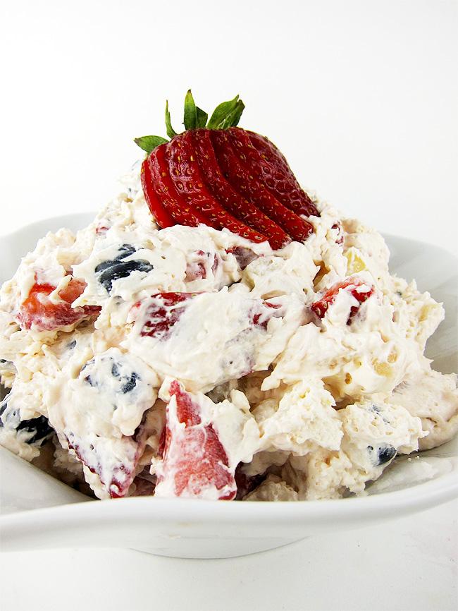 Cheesecake Fruit Salad   www.EatLaughPurr.com