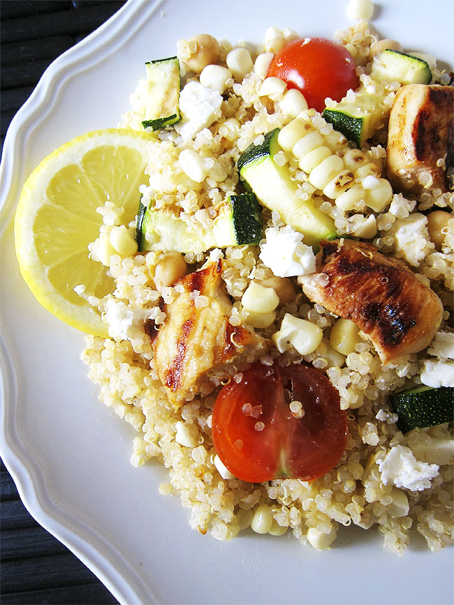 Quinoa with Summer Veggies and Chicken