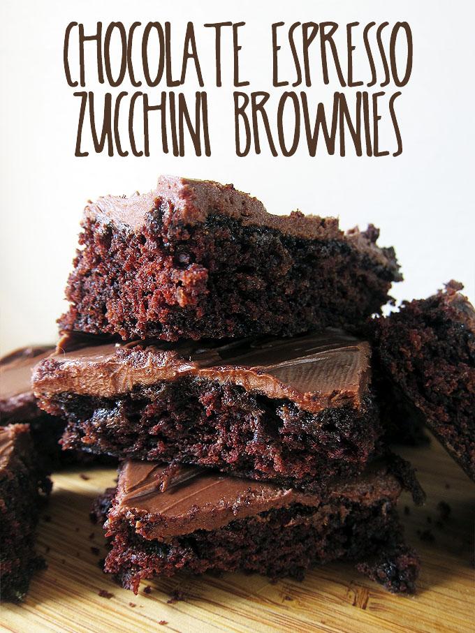 Chocolate Espresso Zucchini Brownies | www.EatLaughPurr.com