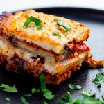 Dairy-free moussaka on plate