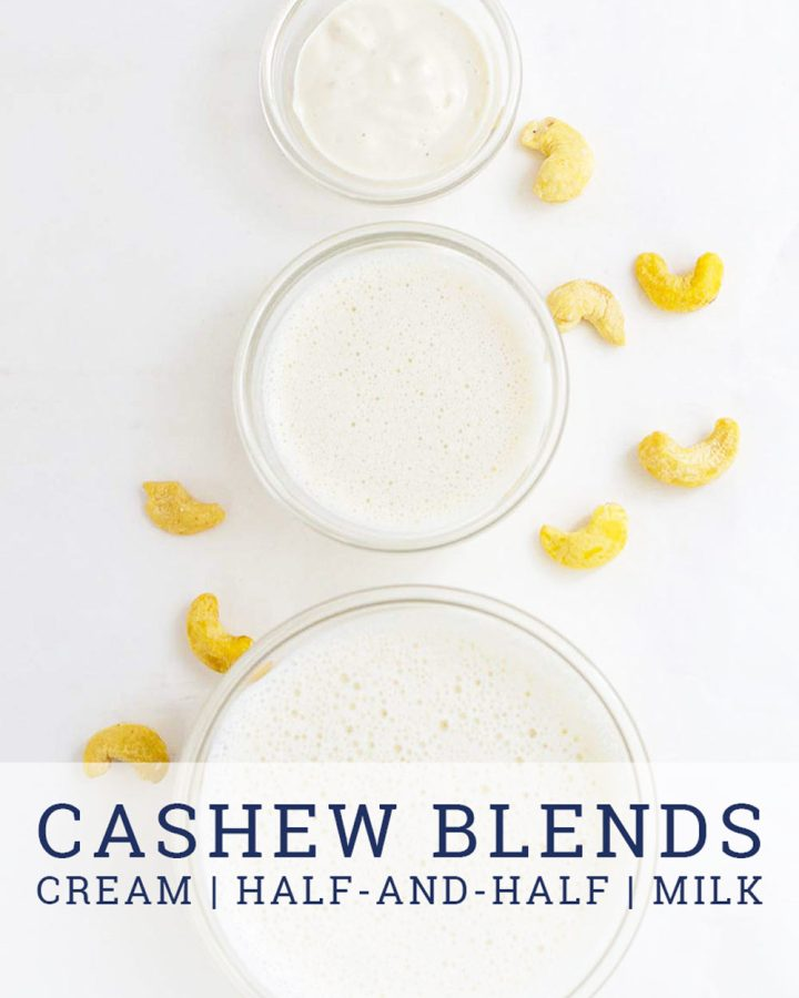 cashew cream and cashew milk