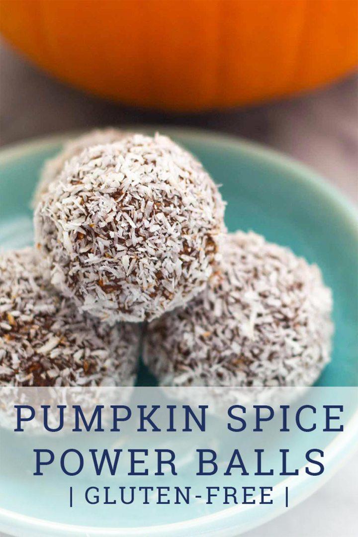 Pumpkin Spice Power Balls on plate