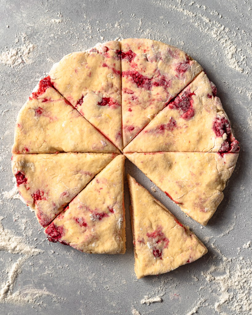 Easy and Delicious Lemon Raspberry Scones