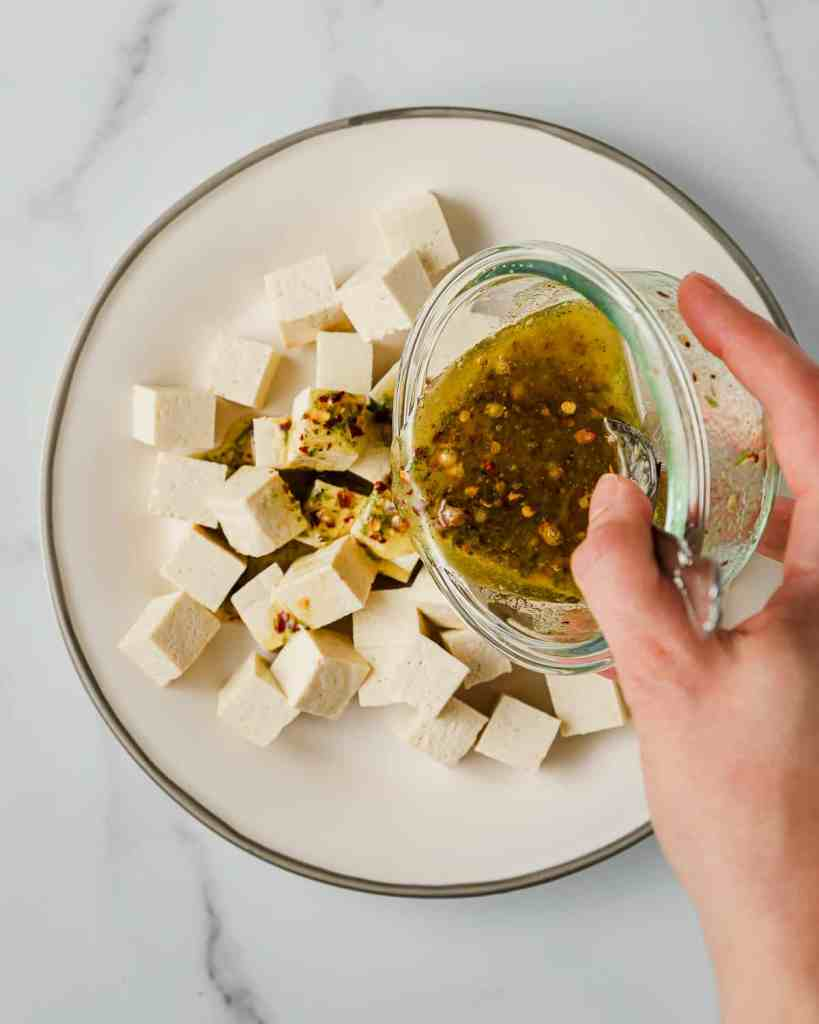 Tofu with Chili Lime Oil