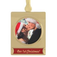 create your own christmas ornaments - our first christmas