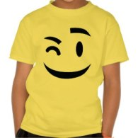 funny winking emoji t-shirts
