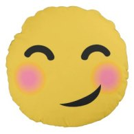 funny and cute blushing emoji pillows