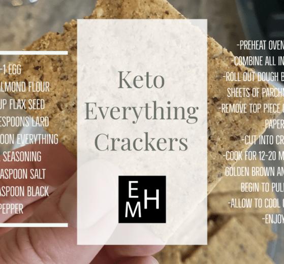 Keto Everything Cracker Recipe