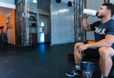 Athlete Drinking Pre Workout Before Workout