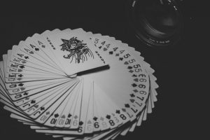 Deck of Cards Fanned Out in Circle