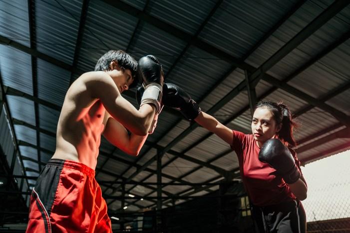 Female Boxer With Jab Motion