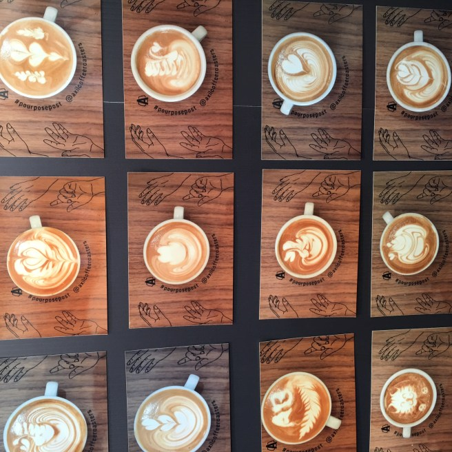 latte art from Melbourne International Coffee Expo