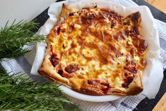 Beetroot and goats cheese tart recipe