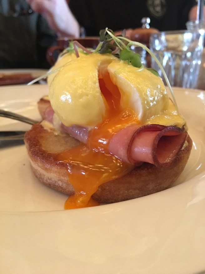 Eggs Benedict at Trotters Bistro Carlton