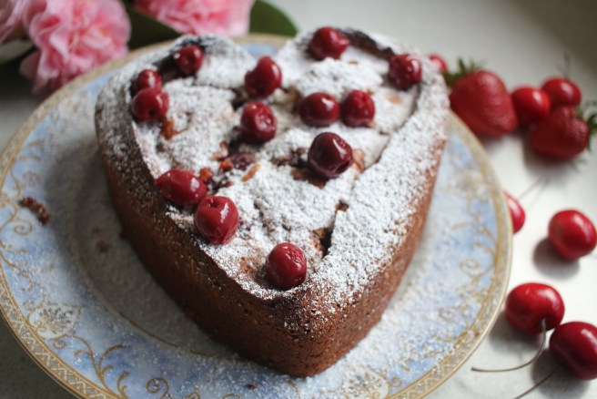 Almond cherry cake recipe