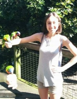 Just hanging with some birds at Cocoa Beach zoo