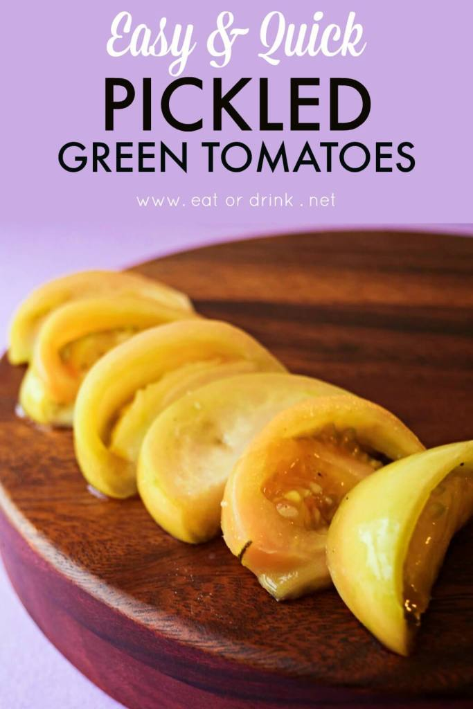 easy quick pickled green tomatoes