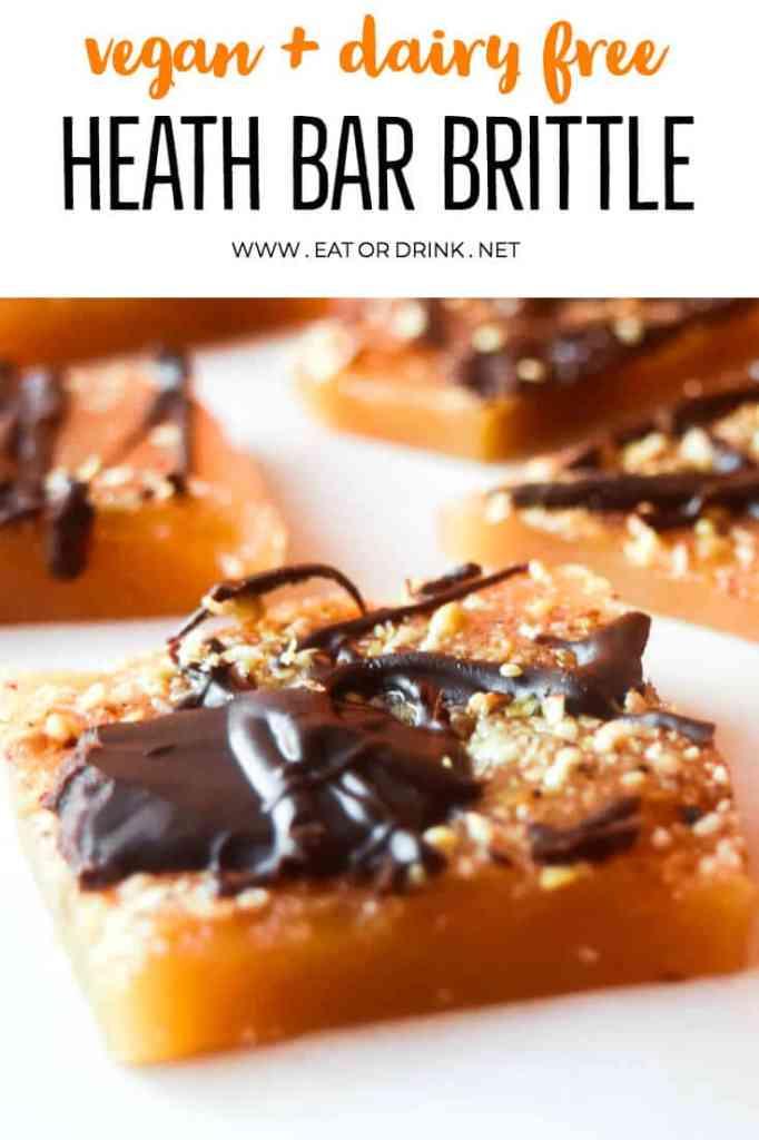how to make heath bar brittle vegan