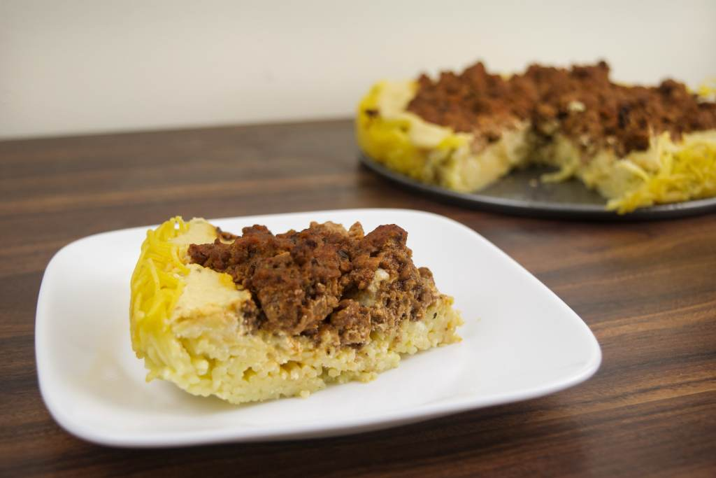 slice of gluten free spaghetti pie