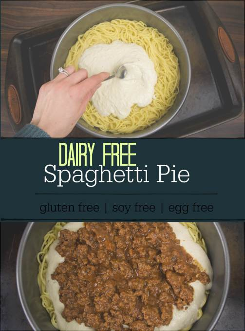 spaghetti pie with text