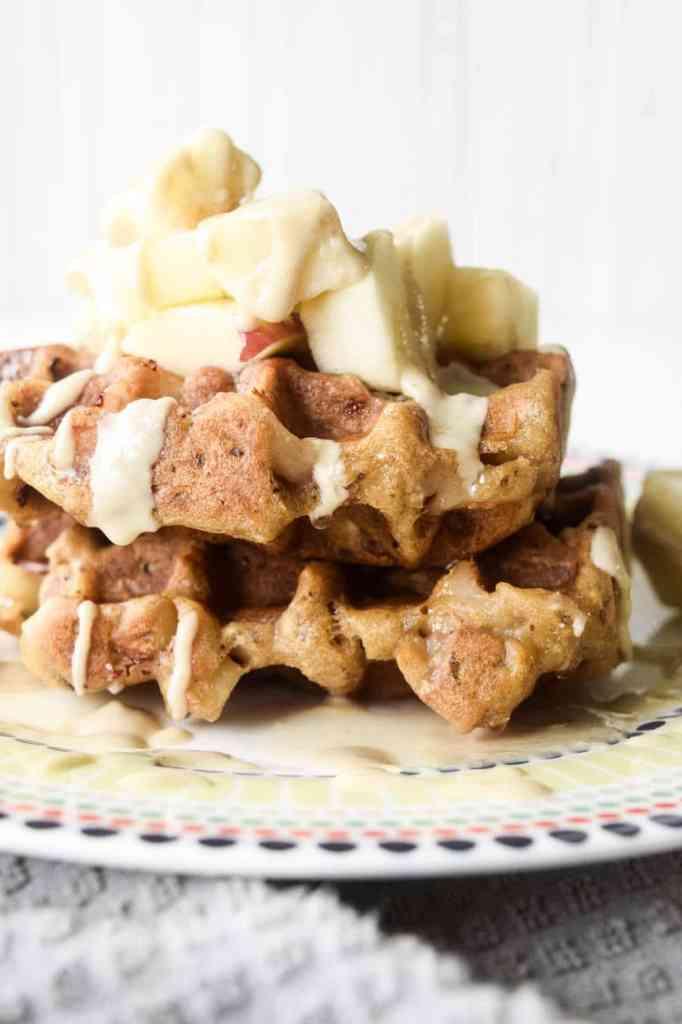 gluten free apple waffles