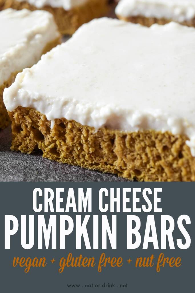 cream cheese pumpkin bars vegan gluten free nut free