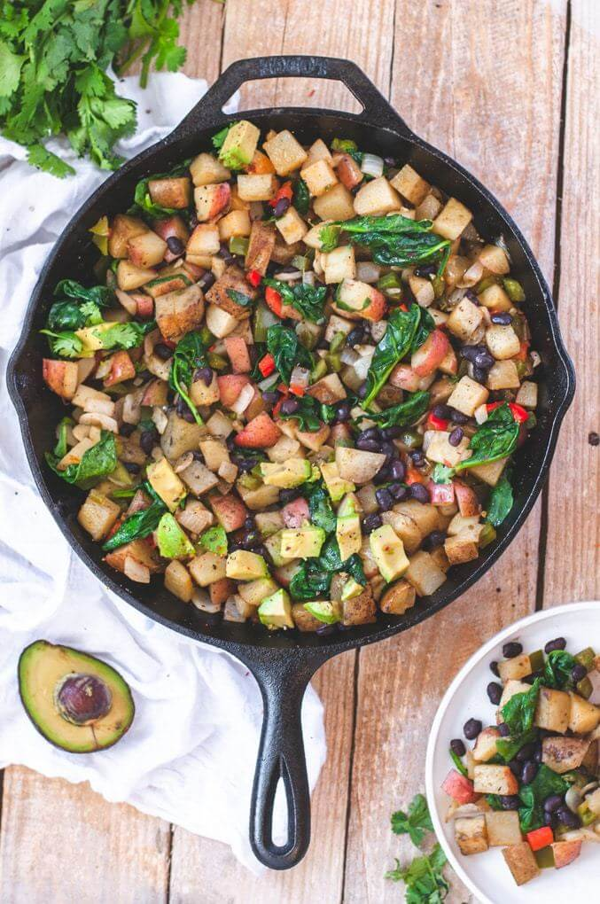 gluten free vegan breakfast easy potato skillet