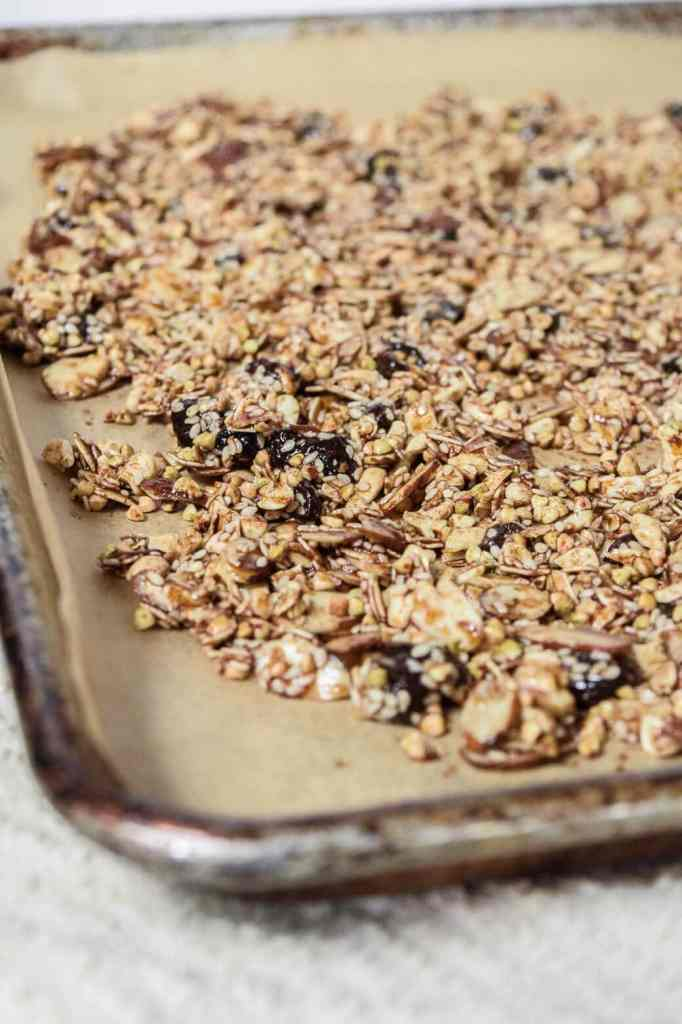honey molasses pumpkin spice granola