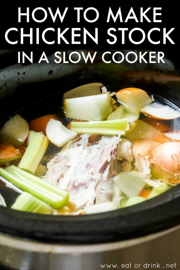 how to make chicken stock in a slow cooker with leftover rotisserie chicken