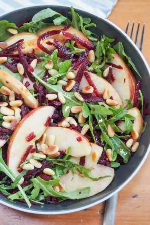 savory beet apple salad