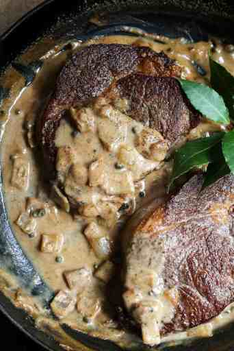 steak with dairy free peppercorn sauce easy dinner