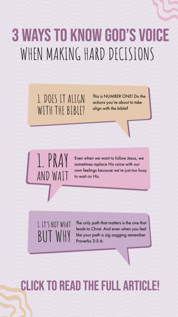3 ways to know god's voice infograph