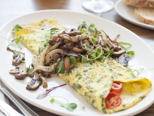 A mushroom omelette at tashas. Photo supplied.