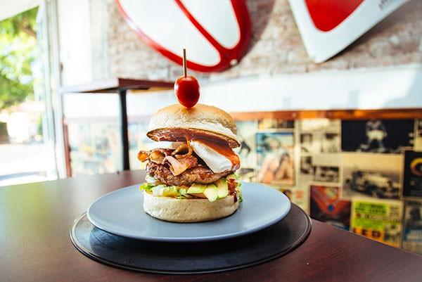A burger at Burger Bistro. Photo supplied.