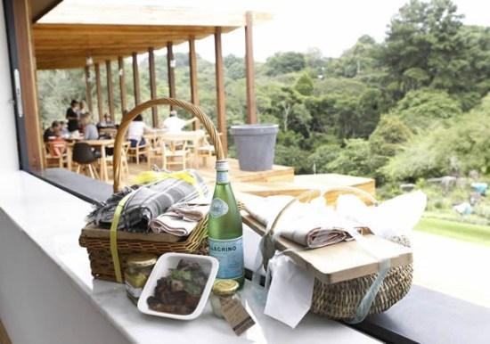 A picnic basket at Makaranga. Photo supplied.