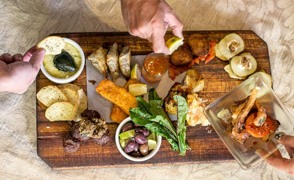 A tapas platter at Laughing Chefs. Photo supplied.