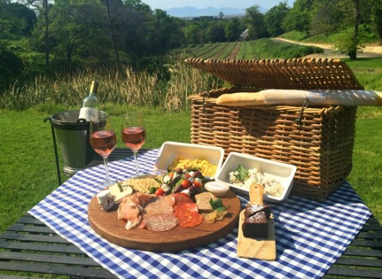 A picnic spread at Simon's at Groot Constantia. Photo supplied.