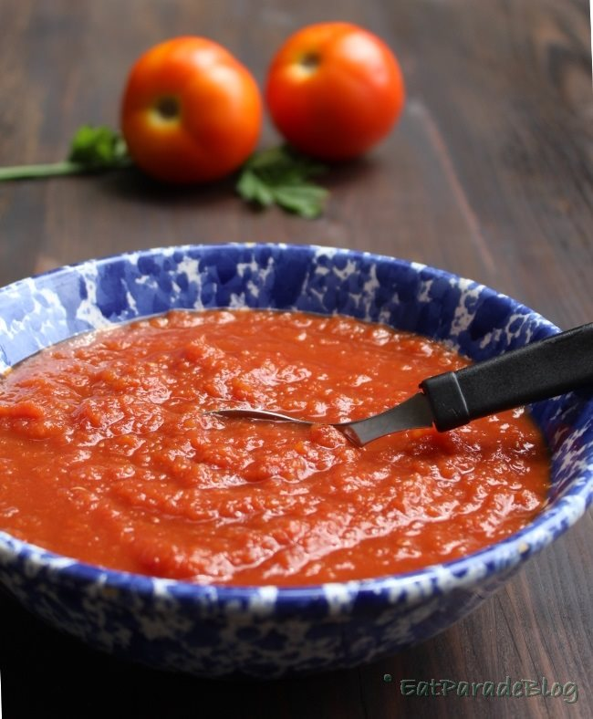 Salsa di pomodoro - cottura sottovuoto