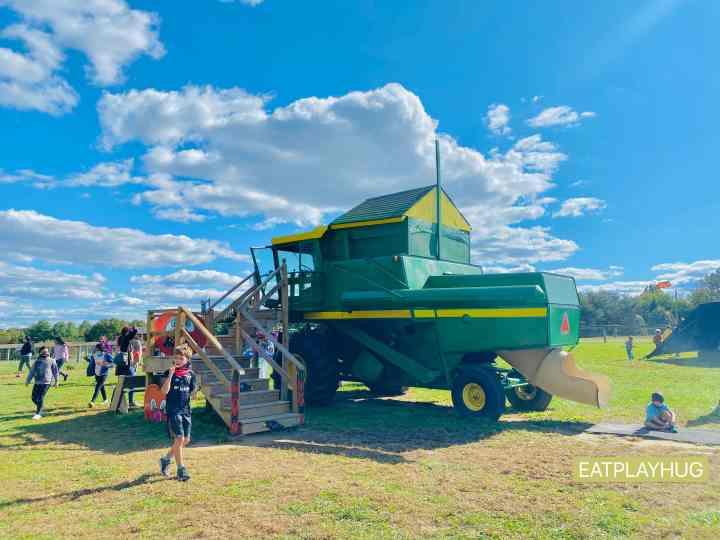 Tractor slide @ Butler's Farm