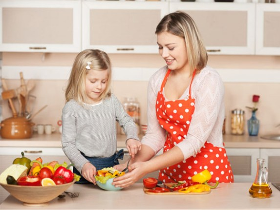cooking with mom on Mother's Day