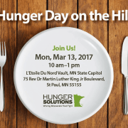 Hunger Solutions Minnesota Day at Capitol –  Monday March 13