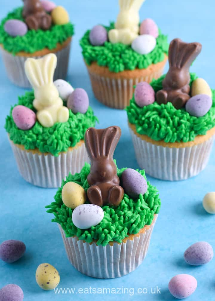 How to make fun and easy Easter cupcakes - fun Easter recipe for kids