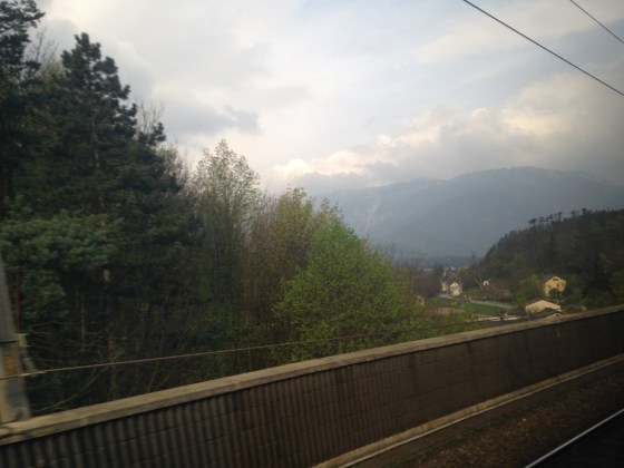 A train ride through the mountains