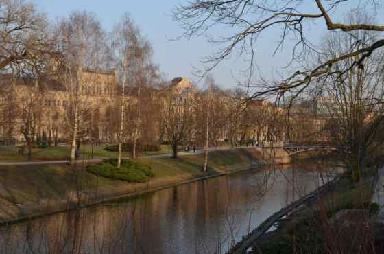 Riga is a very pedestrian friendly city with lots of walking paths