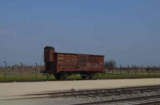This old rail car stands as a reminder