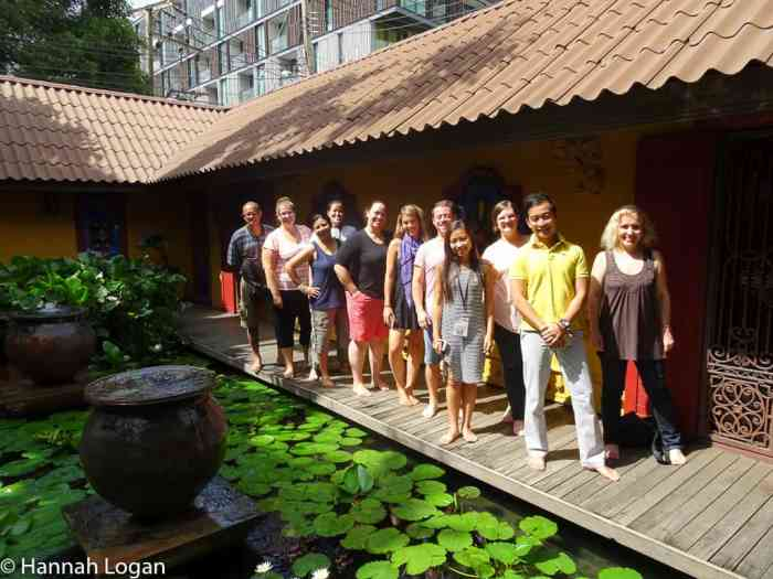 Travel Bloggers at the Thai Spa