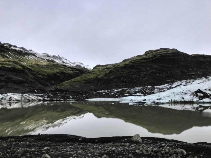 Sólheimajökull glacier south coast Iceland