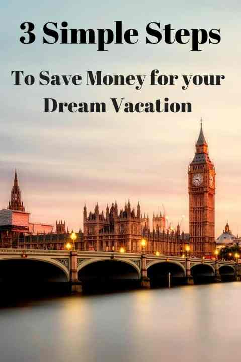 Looking to save money for travel? Have a dream trip that you're struggling to save money for? It's not always easy, but my realistic and simple 3 step process if a good place to start. Click to learn my money saving tips.